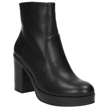 Členková obuv na masívnom podpätku bata, čierna, 791-6601 - 13