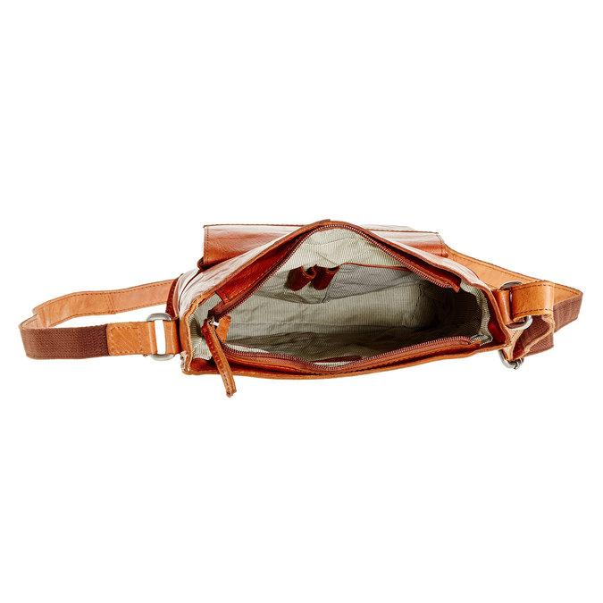 Pánska kožená  Crossbody taška bata, hnedá, 964-3141 - 15