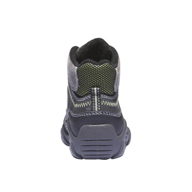 Detské vysoké kožené topánky mini-b, šedá, 216-2100 - 17