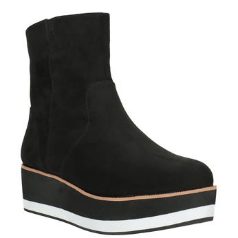 Členková obuv na flatforme bata, čierna, 699-6601 - 13