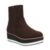 Členková obuv na flatforme bata, hnedá, 699-4601 - 13
