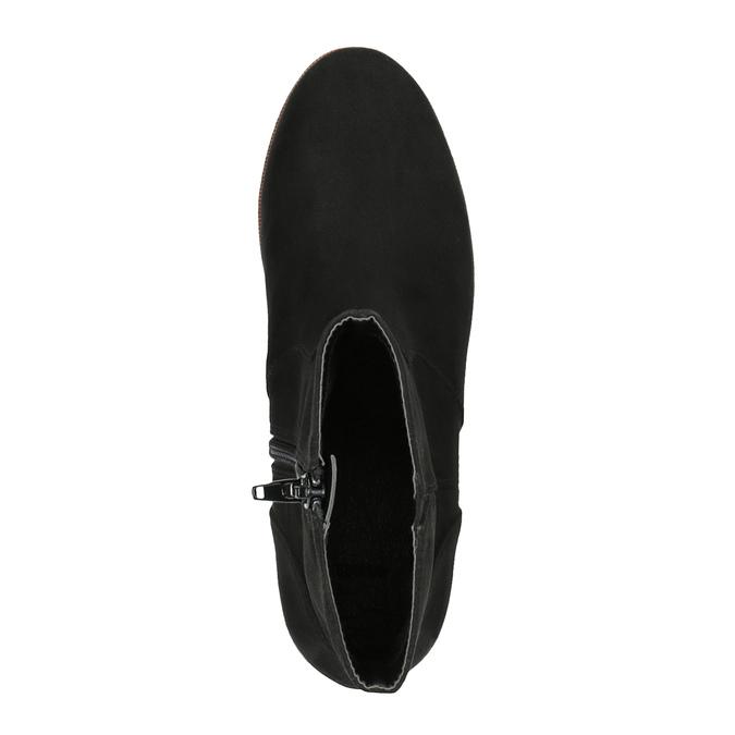 Členková obuv na flatforme bata, čierna, 699-6601 - 19