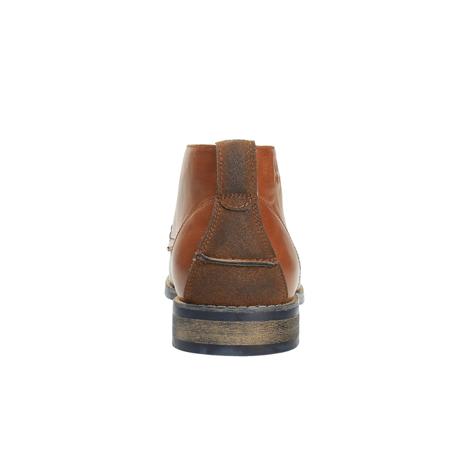 Ležérne členkové poltopánky hnedé bata, hnedá, 891-3600 - 17