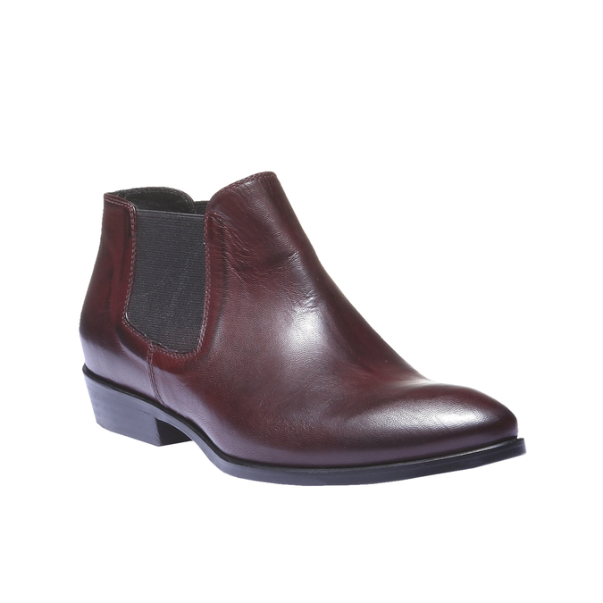 Kožené topánky v Chelsoa štýle bata, červená, 594-5106 - 13