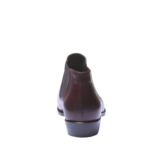 Kožené topánky v Chelsoa štýle bata, červená, 594-5106 - 17