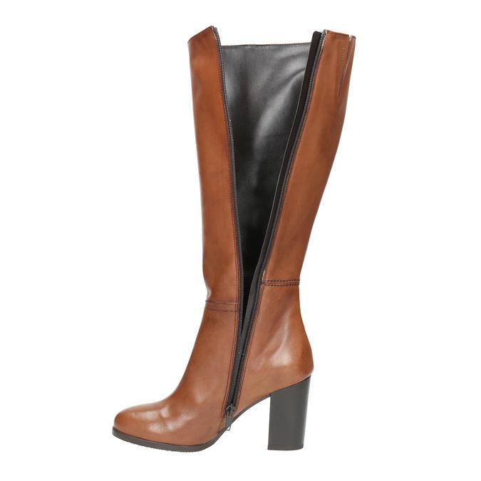 Dámské kožené čižmy bata, hnedá, 794-4447 - 19