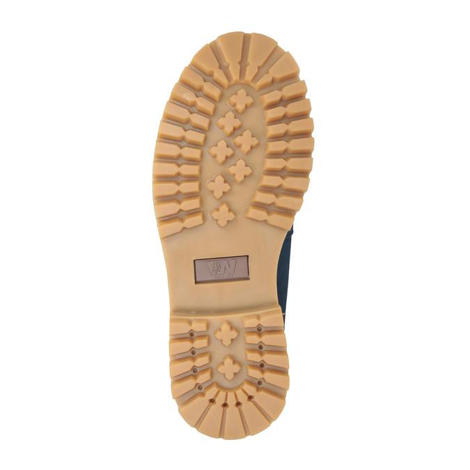 Dámska kožená obuv modrá weinbrenner, modrá, 596-9629 - 26