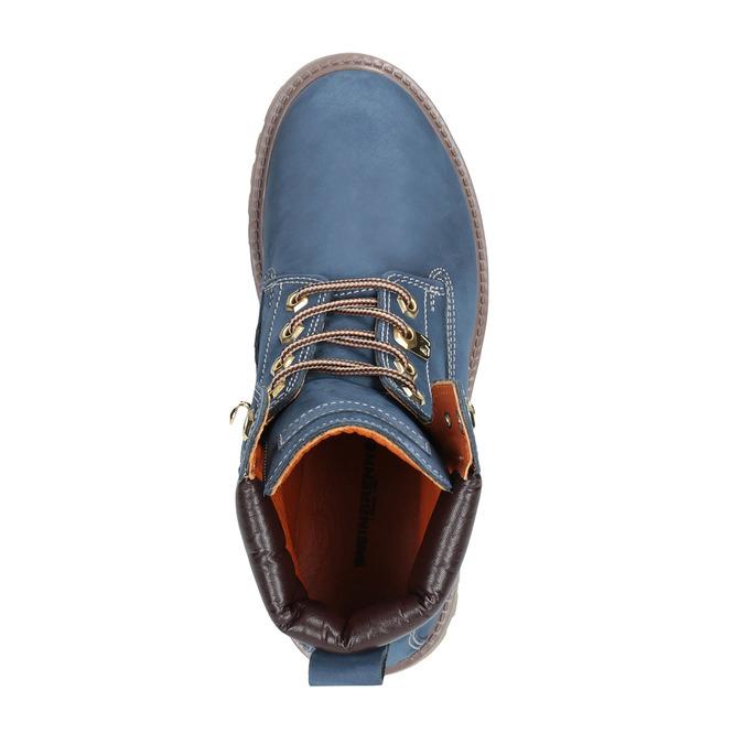 Dámska kožená obuv modrá weinbrenner, modrá, 596-9629 - 19