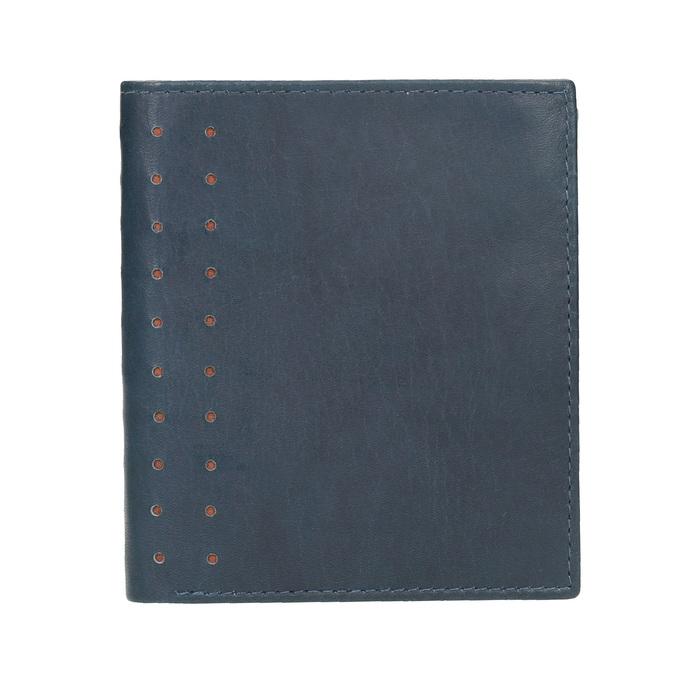 Kožená peňaženka s perforáciou bata, modrá, 944-9175 - 26
