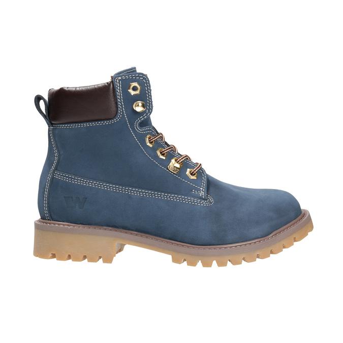 Dámska kožená obuv modrá weinbrenner, modrá, 596-9629 - 15