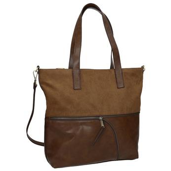 Dámska kabelka s asymetrickým zipsom bata, hnedá, 961-3847 - 13