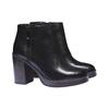 Kožená členková obuv na podpätku bata, čierna, 794-6584 - 26