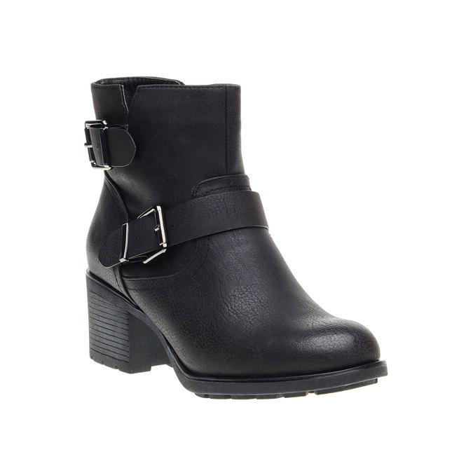 Členková obuv s prackami bata, čierna, 691-6103 - 13
