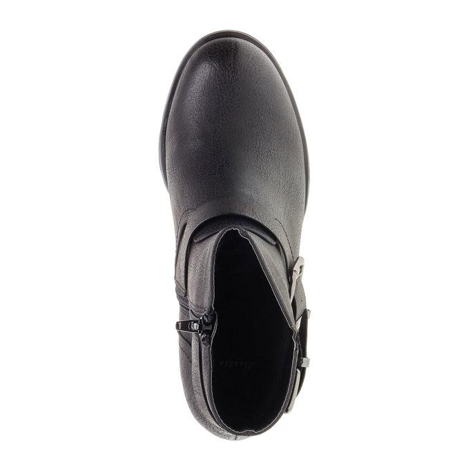 Členková obuv s prackami bata, čierna, 691-6103 - 19