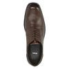 Pánske kožené poltopánky bata, hnedá, 824-4743 - 19