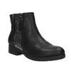 Dámska členková  obuv so zipsami bata, čierna, 591-6612 - 13