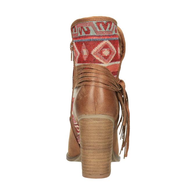 Členkové čižmy vo Western štýle so zateplením bata, hnedá, 699-4603 - 17