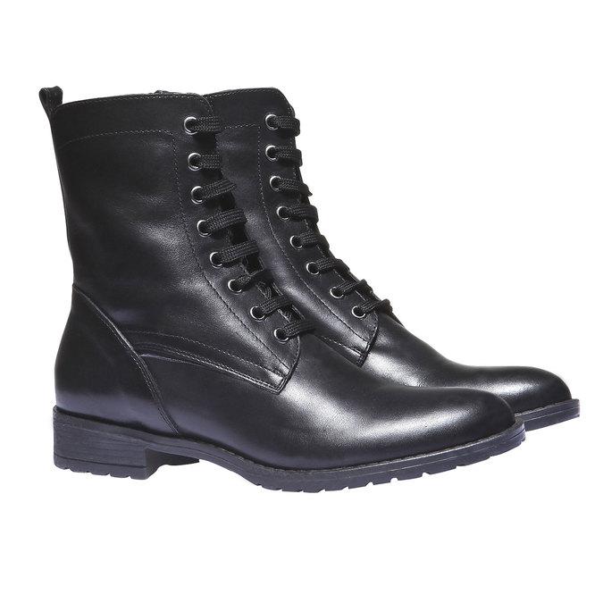 Členková obuv s výraznou podošvou bata, čierna, 594-6211 - 26