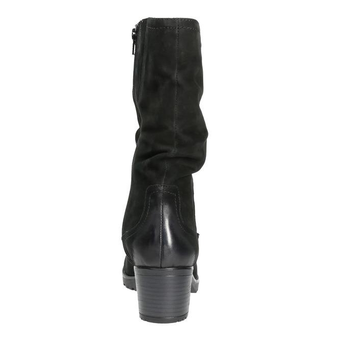 Kožená členková obuv bata, čierna, 696-6101 - 17