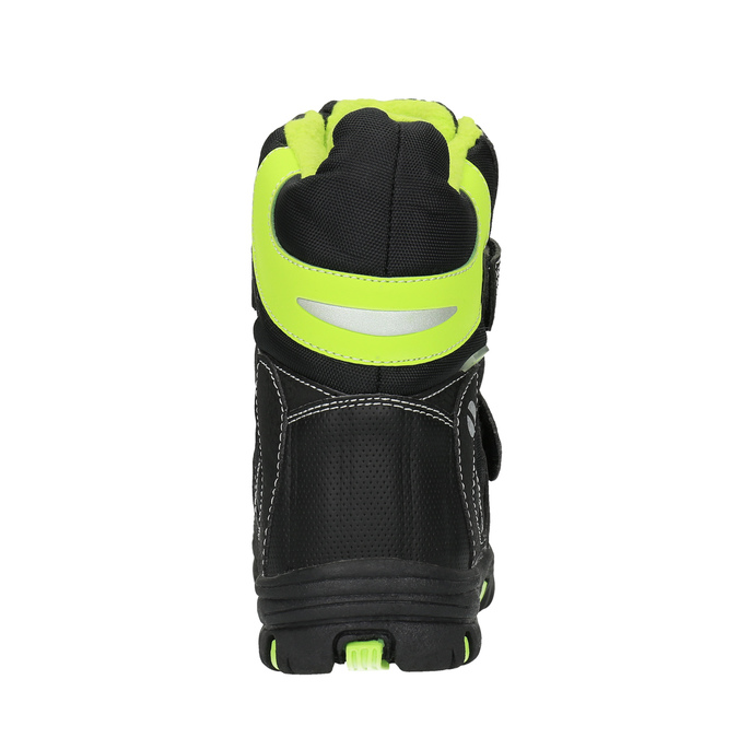 Detská obuv so zateplením mini-b, čierna, 291-6601 - 17