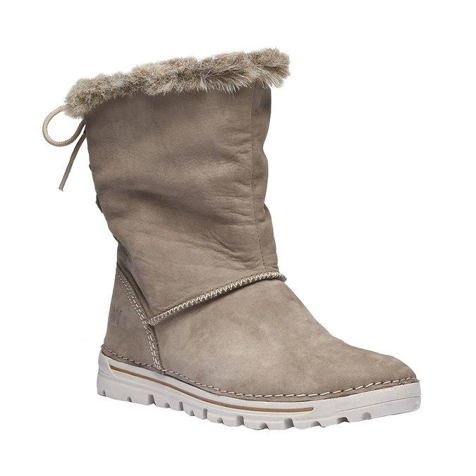 Kožená členková obuv weinbrenner, béžová, 596-2334 - 13