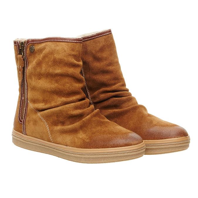 Kožená členková obuv bata, hnedá, 593-4103 - 26