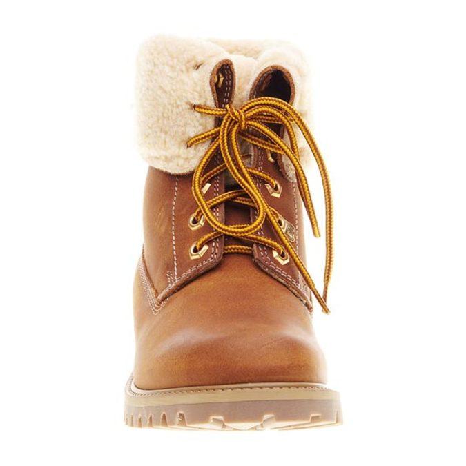 Kožená obuv s kožušinou weinbrenner, hnedá, 594-3823 - 16