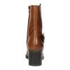 Dámske kožené čižmy nad členky bata, hnedá, 694-3359 - 17