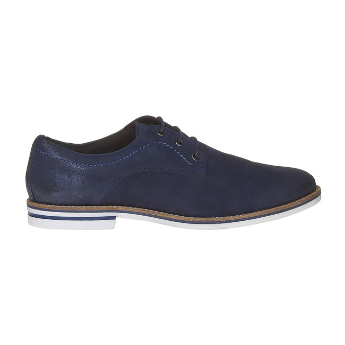 Ležérne kožené poltopánky bata, modrá, 826-9642 - 15