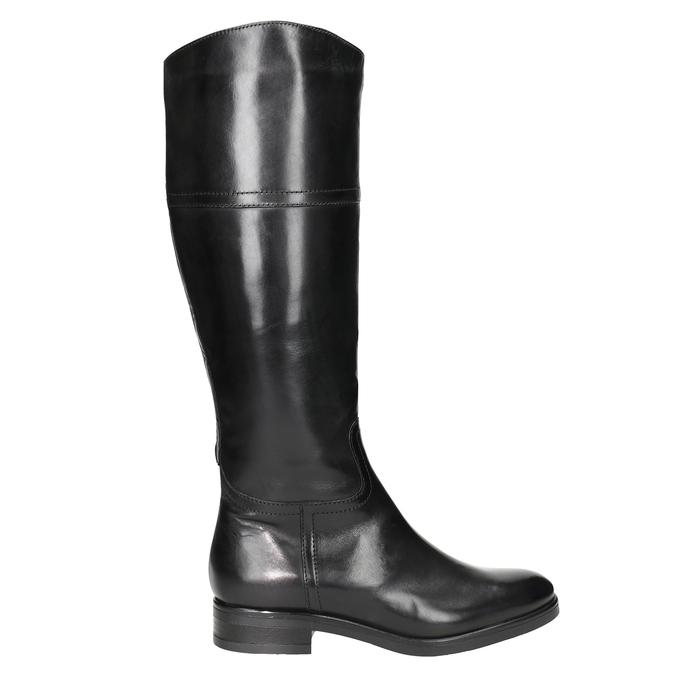 Kožené dámske čižmy bata, čierna, 594-6606 - 26