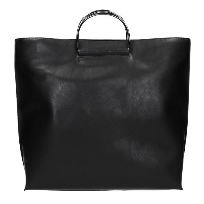 Dámska kabelka s kovovými rúčkami bata, čierna, 961-6789 - 26