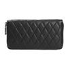 Dámska kožená peňaženka s prešívaním bata, čierna, 944-6164 - 26
