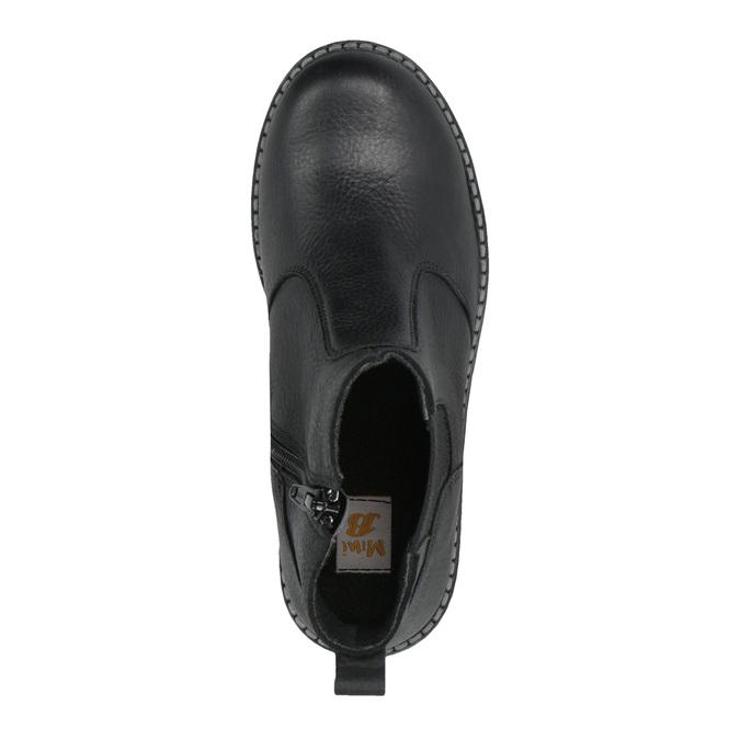 Detská kožená obuv nad členky mini-b, čierna, 394-6316 - 19