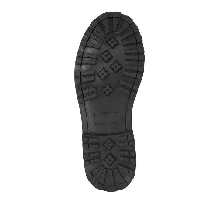 Detská kožená členková obuv mini-b, šedá, 394-2316 - 26