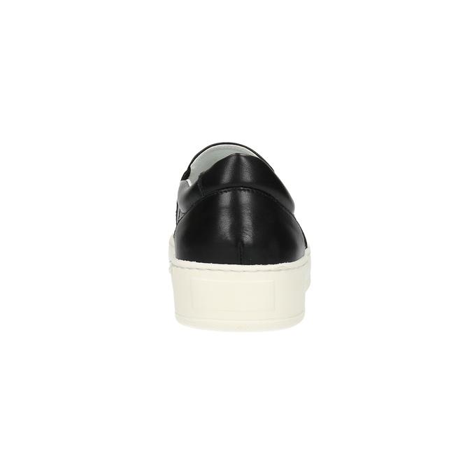 Pánske kožené Slip-on bata, čierna, 844-6630 - 17
