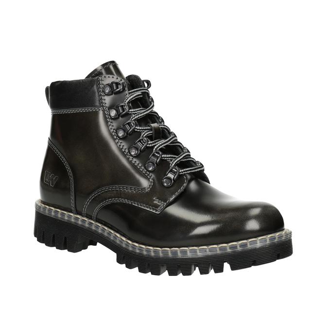 Kožená dámska zimná obuv weinbrenner, zelená, 596-7634 - 13