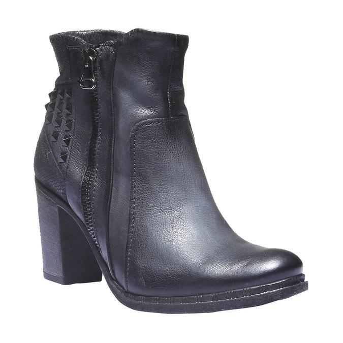 Kožená členková obuv bata, modrá, 796-9100 - 13