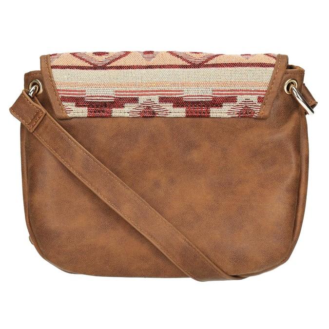 Crossbody kabelka s Etno vzorom bata, hnedá, 969-3642 - 26