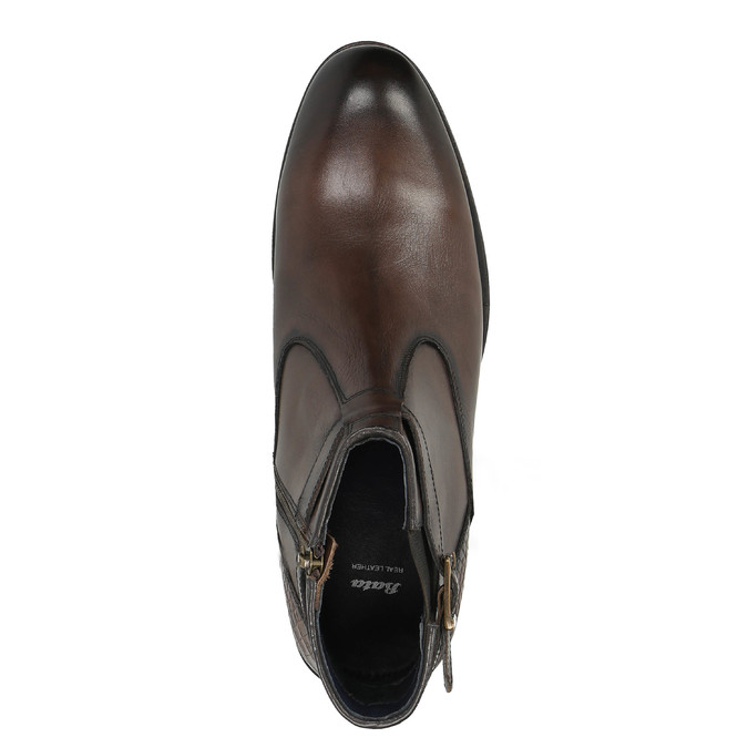 Členková pánska obuv s prackou bata, hnedá, 894-4652 - 19