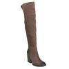 Kožené čižmy nad kolená na masivnom podpätku bata, hnedá, 696-4611 - 13