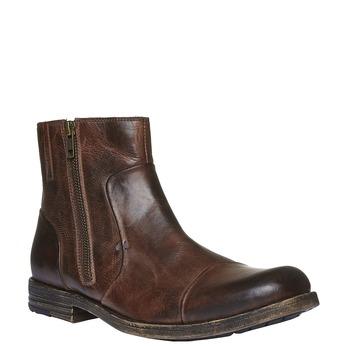 Kožené členkové topánky so zipsom bata, hnedá, 894-4131 - 13