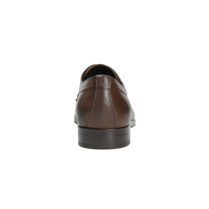 Hnedé kožené poltopánky bata, hnedá, 824-4711 - 17