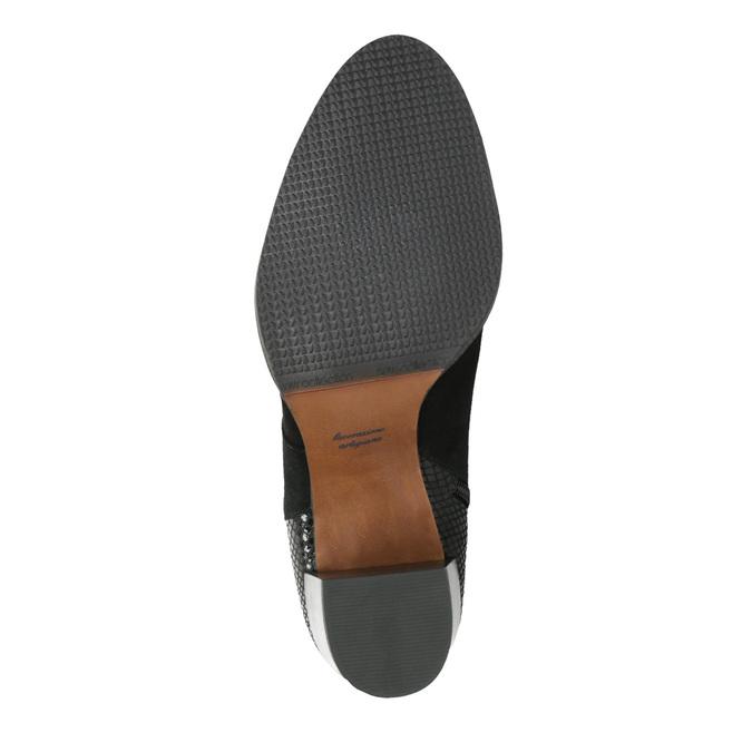 Dámske kožené čižmy bata, čierna, 696-6645 - 26