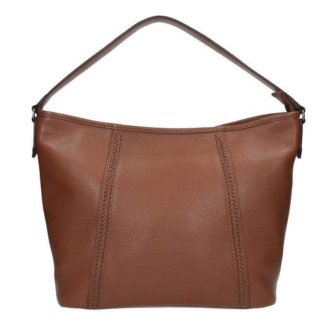 Kožená kabelka v Hobo štýle bata, hnedá, 964-3206 - 19