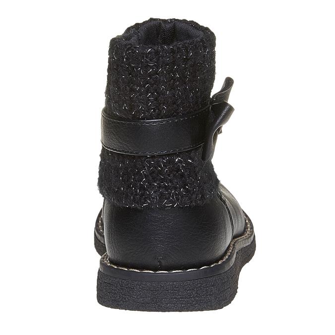 Detská obuv s úpletom mini-b, čierna, 291-6154 - 17