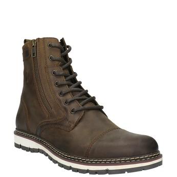 Kožená členková obuv bata, hnedá, 896-4641 - 13