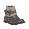 Detská obuv s pleteným lemom mini-b, šedá, 291-2154 - 13
