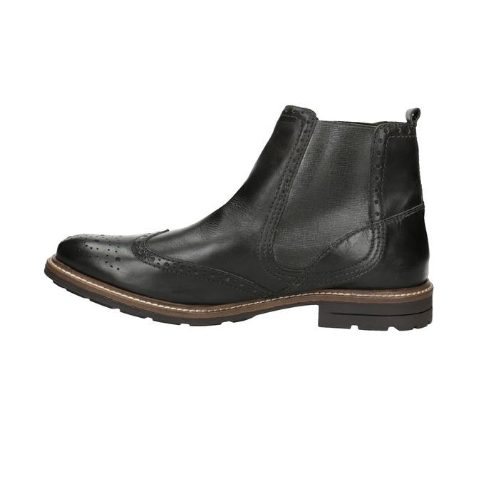 Pánske Chelsoa Boots so zdobením bata, čierna, 894-6645 - 26