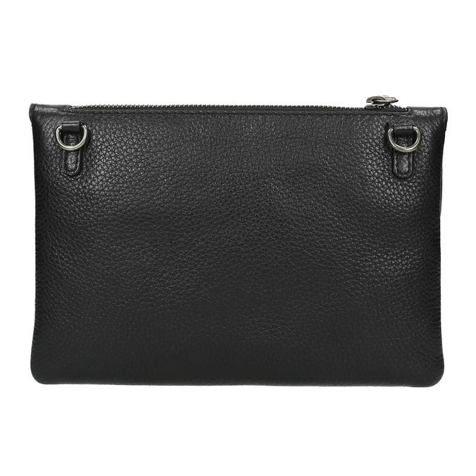 Čierna kožená listová kabelka bata, čierna, 964-6210 - 26