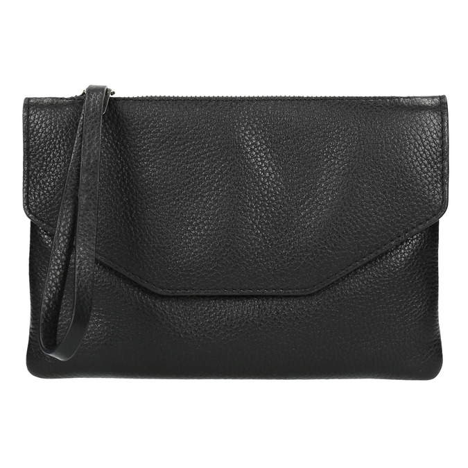 Čierna kožená listová kabelka bata, čierna, 964-6210 - 19